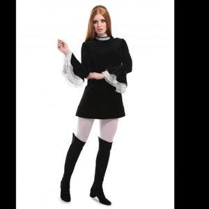 Dresses & Skirts - 60's Victorian Goth Velvet Mini Dress